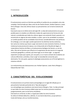 4. el evolucionismo de morgan y tylor