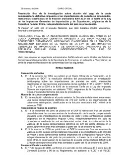 Resolución  final  de  la  investigación ... compensatoria  definitiva  impuesta  a  las ...