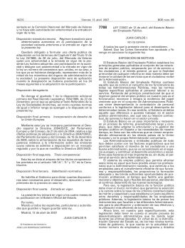 Estatuto Basico del Empleado Publico Ley 7 2007 11 de abril