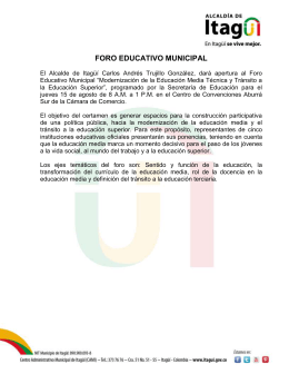 Foro Educativo Municipal