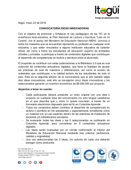 Convocatoria Ideas innovadoras