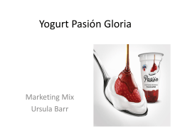 anlisis del marketing mix del yogurt pasion de gloria