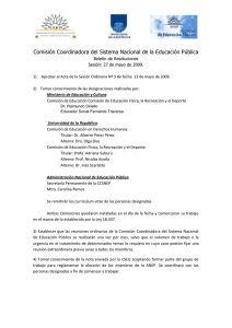 BOLETÍN DE RESOLUCIONES 05 27 05 2009