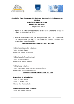 BOLETÍN DE RESOLUCIONES 5 21 06 2010