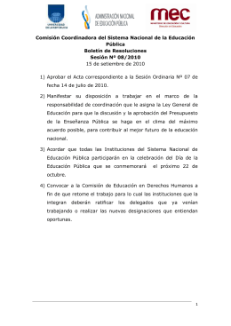 BOLETÍN DE RESOLUCIONES 6 15-09-2010