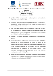 BOLETÍN DE RESOLUCIONES 8 15 12 2010