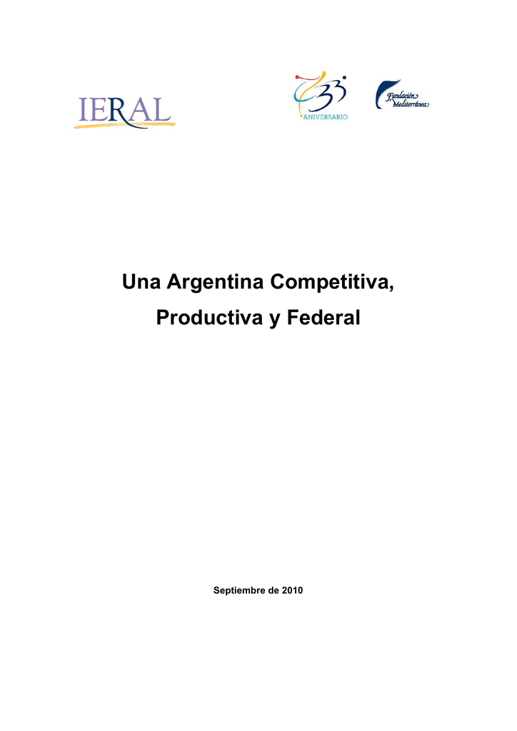 Calendario Academico Ucm 2020 2020.Una Argentina Competitiva Productiva Y Federal Septiembre De 2010