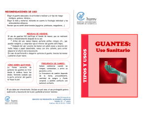 Descargar documento: Guantes: uso sanitario