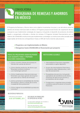 See the rules of the call for proposals (in Spanish)