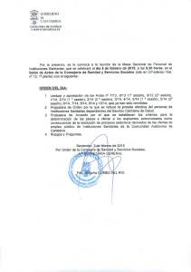 Convocatoria Mesa Sectorial 06.02.2015