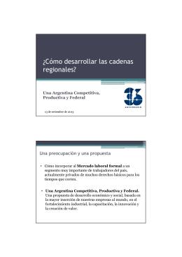 Presentación Regionales