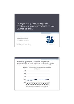 La Argentina y la estrategia de crecimiento: ¿qué aprendimos en los
