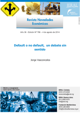 Default o no default, un debate sin sentido