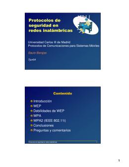 Introducción WEP Debilidades de WEP WPA