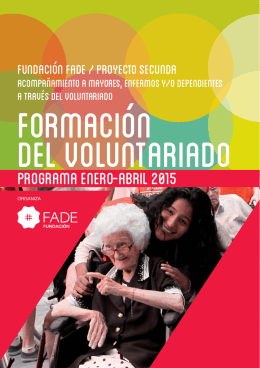 Ver folleto programación Enero-Abril Cartagena 2015