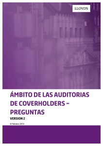 Coverholder Audit Scope Questions v2 Spanish Translation
