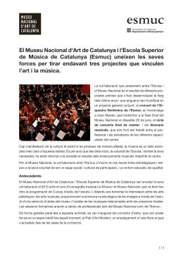 Dossier Premsa MNAC-Esmuc