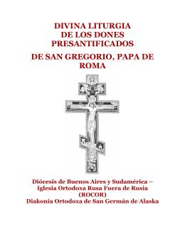 Divina Liturgia de los dones presantificados