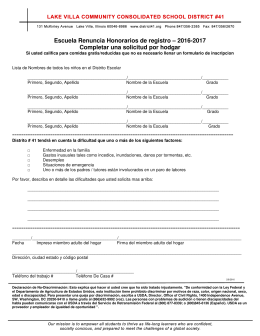 Registration Waiver 2016-2017 Spanish