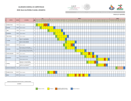 Calendario General de Competencias de la Sede: Baja California [Versi n 2]