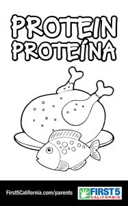 Protein! Coloring Sheet