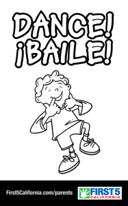 Dance! Coloring Sheet