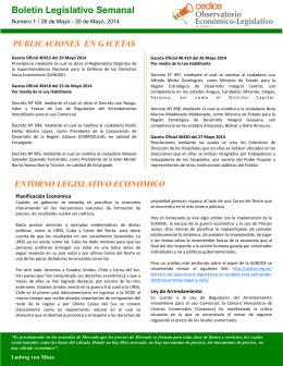 Descargar Boletín Legislativo Semanal #01