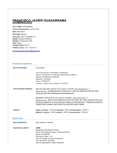 CV Francisco Javier Guadarrama Dominguez