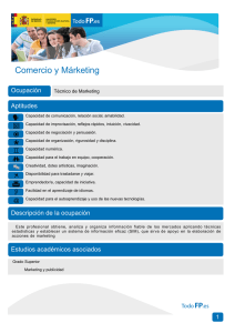Comercio y Márketing Ocupación Aptitudes Técnico de Marketing
