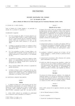 181210 decision EUPOL COPPS