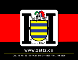 www.zattz.co Cra. 19 No. 53 - 75 / Cel. 310 2116365 /...