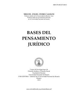 BASES DEL PENSAMIENTO JUR DICO