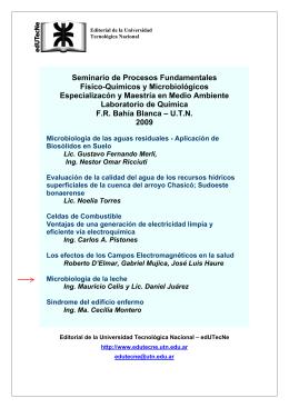 Seminario de Procesos Fundamentales Físico-Químicos y Microbiológicos