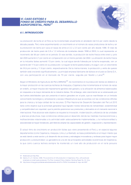 VI. CASO EXITOSO 4 FONDO DE CRÉDITO PARA EL DESARROLLO AGROFORESTAL, PERÚ