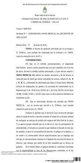 Poder Judicial de la Nación COMERCIAL FEDERAL – SALA II