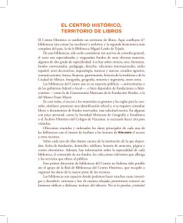 El CEntro HistóriCo, tErritorio dE libros