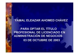 Las Debilidades de promocion del modelo Manufacturero, en especial en el Caso peruano (ppt)