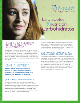 y Carbohidratos La diabetes nutrición: