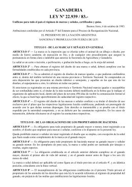 Ley Nacional N° 22939/1983