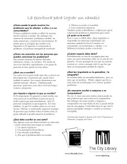 Writing Strategies (Spanish)
