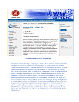 Inclusion y Software Libre