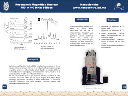 Resonancia Magnetica Nuclear 750 y400 MHz: Solidos