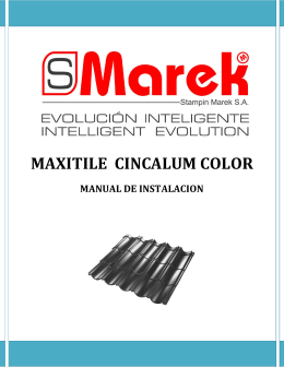 MAXITILE  CINCALUM COLOR MANUAL DE INSTALACION