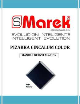PIZARRA CINCALUM COLOR MANUAL DE INSTALACION