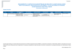 Documento Institucional 2013-2014.