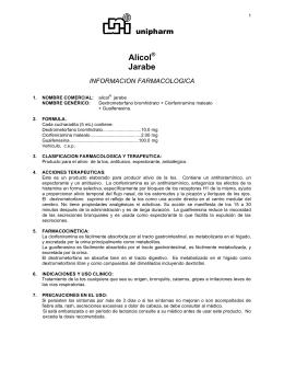 Alicol Jarabe unipharm