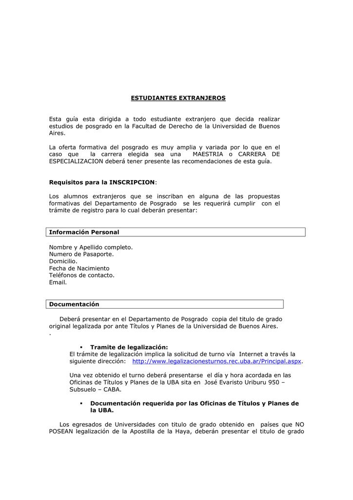 Información suplementaria para estudiantes extranjeros (pdf)