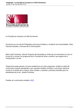 La Facultad se incorpora a la Red Humaniora