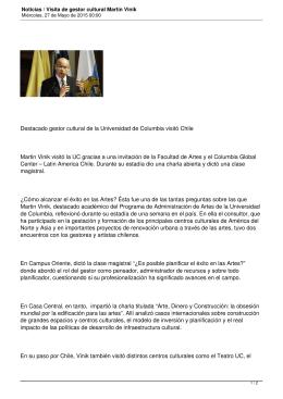 Destacado gestor cultural de la Universidad de Columbia visitó Chile