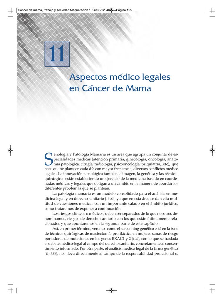 11 S Aspectos médico legales en Cáncer de Mama